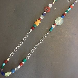 Tous silver gemstones necklace preloved
